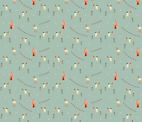 Circus Pugs (Blue) fabric by clevergirlstudio on Spoonflower - custom fabric
