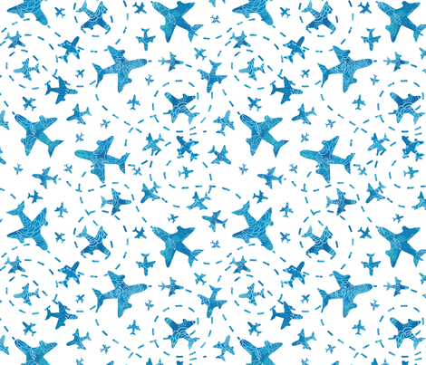 Airplanes fabric by oksancia on Spoonflower - custom fabric