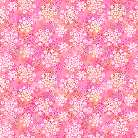 verbena pink fabric by joanmclemore on Spoonflower - custom fabric