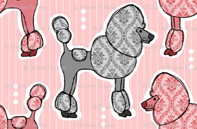 Prized Poodles - Pink & Pewter