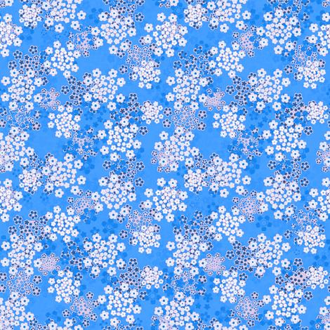 Verbena blue fabric by joanmclemore on Spoonflower - custom fabric