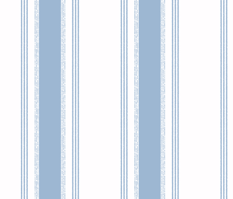 French Ticking in chambray fabric by domesticate on Spoonflower - custom fabric