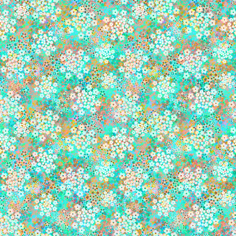 Verbena Aqua fabric by joanmclemore on Spoonflower - custom fabric