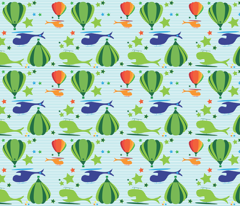 Aviator Stripes fabric by annalisa222 on Spoonflower - custom fabric
