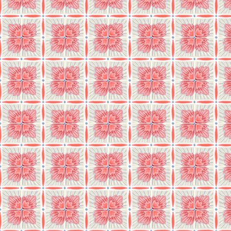 sweet william grey fabric by atomic_bloom on Spoonflower - custom fabric