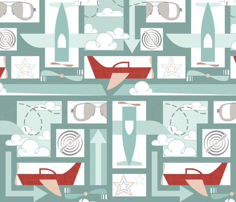 Soaring - Block fabric by ttoz on Spoonflower - custom fabric