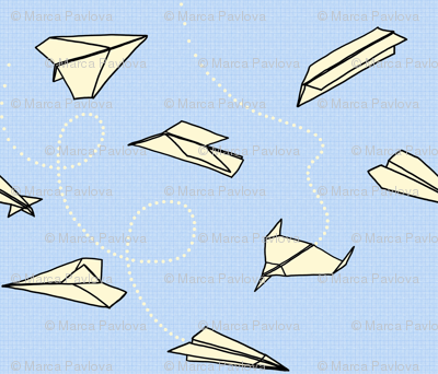 FOLDED PAPER AEROPLANES