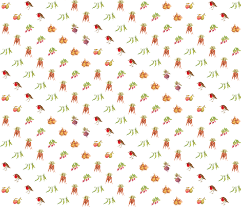 mixed veg fabric by jan_harbon on Spoonflower - custom fabric