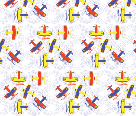 aviation fabric by akwaflorell on Spoonflower - custom fabric