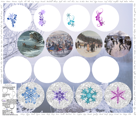 Coasters Winter fabric by miart on Spoonflower - custom fabric