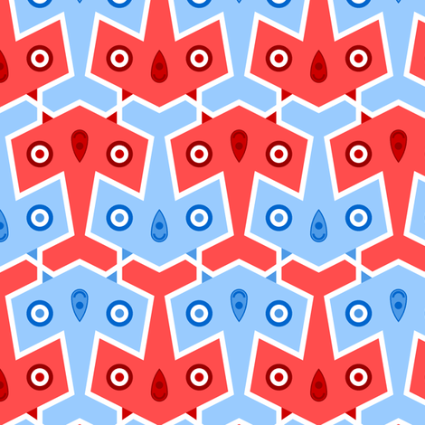 pointy mod plane 2mg fabric by sef on Spoonflower - custom fabric
