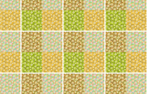 Verbena Quilter's Sample beige tone  fabric by joanmclemore on Spoonflower - custom fabric