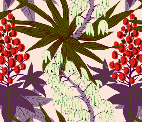 Yucca fabric by desertskies on Spoonflower - custom fabric