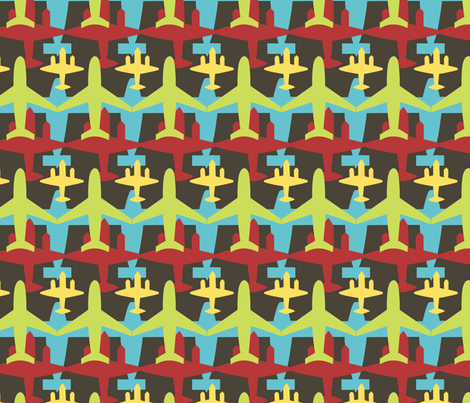 Planes fabric by bojudesigns on Spoonflower - custom fabric