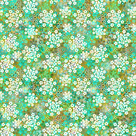 Verbena Blue Green fabric by joanmclemore on Spoonflower - custom fabric