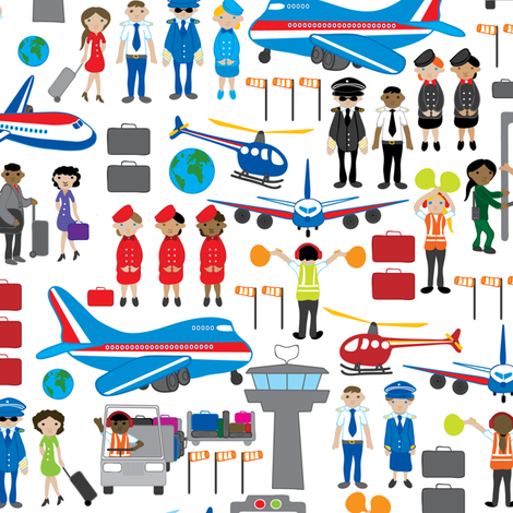 At the airport fabric by ebygomm on Spoonflower - custom fabric