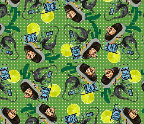 Tequila fiesta fabric by susiprint on Spoonflower - custom fabric