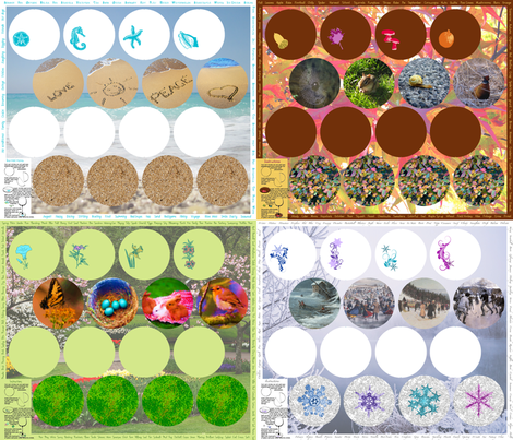 Coasters for All Seasons fabric by miart on Spoonflower - custom fabric