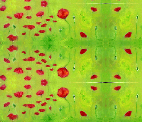 Poppies fabric by nancyvandenboom on Spoonflower - custom fabric