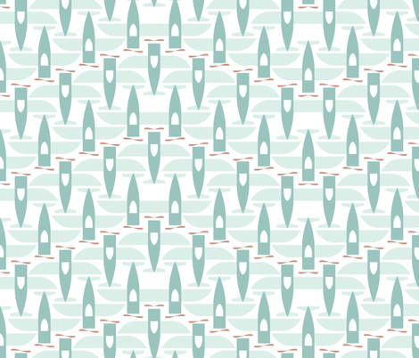 Soaring - V-Formation fabric by ttoz on Spoonflower - custom fabric