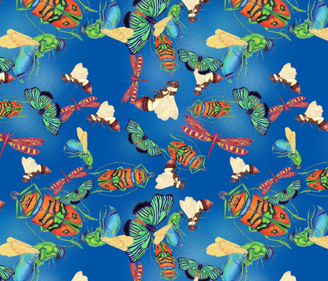 Bug-a-palooza fabric by aftermyart on Spoonflower - custom fabric