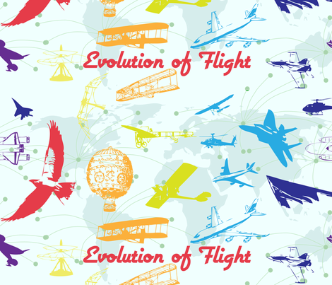 Evolution of Flight1 fabric by bbsforbabies on Spoonflower - custom fabric