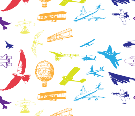Evolution of Flight2 fabric by bbsforbabies on Spoonflower - custom fabric