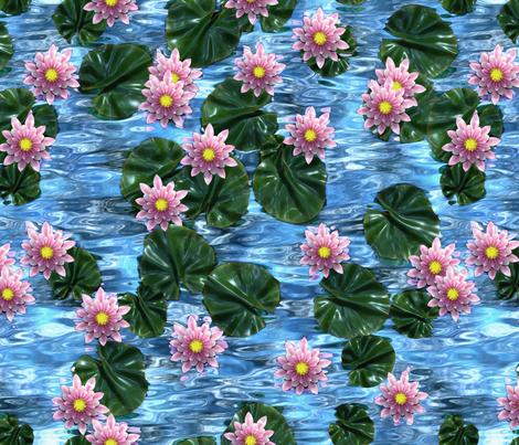 The Waterlilies fabric by bonnie_phantasm on Spoonflower - custom fabric