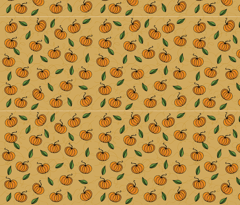 Pumpkinella fabric by duru on Spoonflower - custom fabric