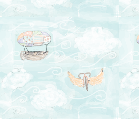 aviationofdreams fabric by christy_kay on Spoonflower - custom fabric