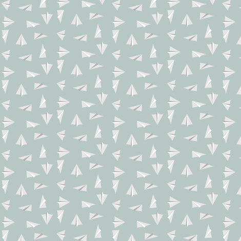 paperairplanes fabric by mrshervi on Spoonflower - custom fabric