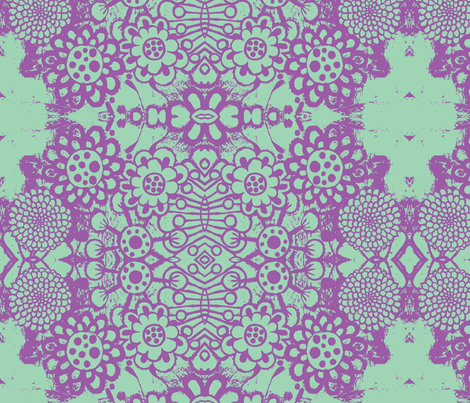 flowers-blue/purple fabric by eat_my_sweet_dust on Spoonflower - custom fabric