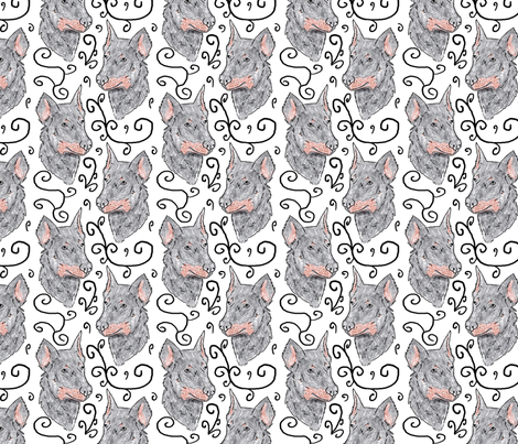 Beauceron puppy elegance fabric by rusticcorgi on Spoonflower - custom fabric
