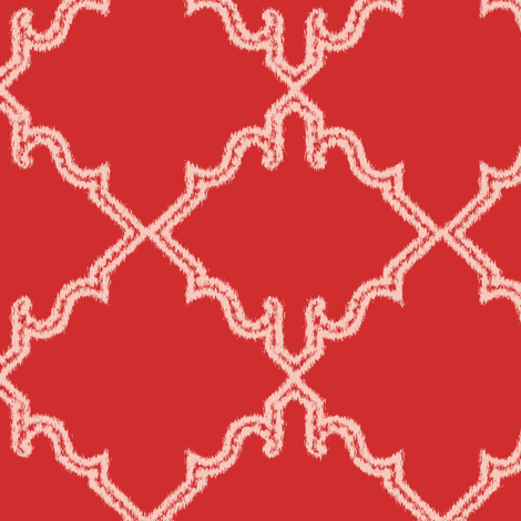Moroccan Vermillion Red fabric by tullia on Spoonflower - custom fabric