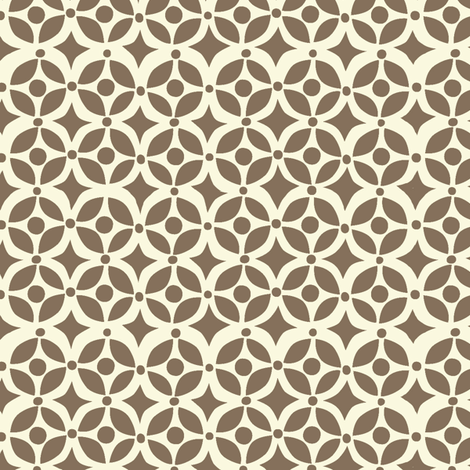 Nesting geometric brown fabric by bzbdesigner on Spoonflower - custom fabric