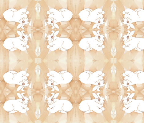 bunny fabric by mandybeau on Spoonflower - custom fabric