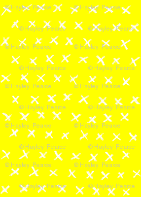 Yellow with White Crosses
