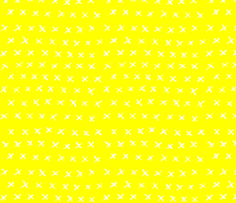 Yellow with White Crosses fabric by the_art_room on Spoonflower - custom fabric