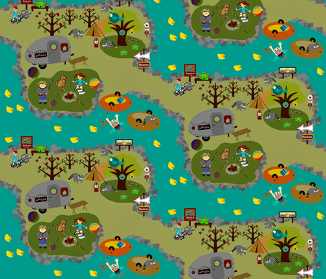 At Camp Funday / ducky races  fabric by paragonstudios on Spoonflower - custom fabric