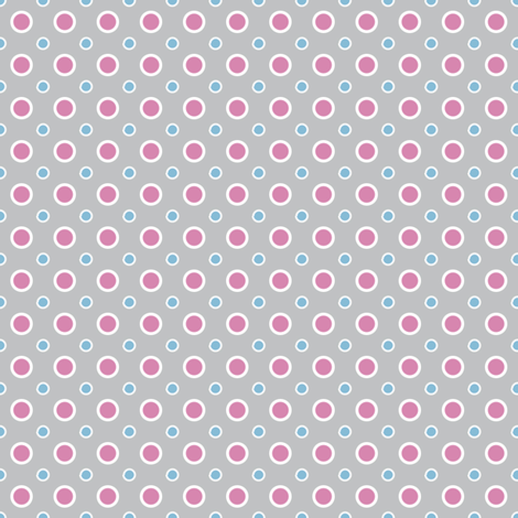 Minimal pink dots fabric by grafiketgrafok on Spoonflower - custom fabric