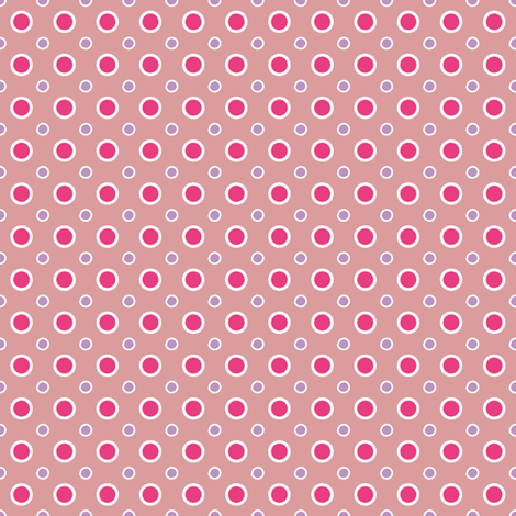 Hot Pink Dots fabric by grafiketgrafok on Spoonflower - custom fabric