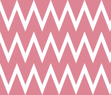 Tall Chevron Coral fabric by honey&fitz on Spoonflower - custom fabric
