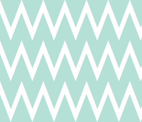 Tall Chevron Mint fabric by honey&fitz on Spoonflower - custom fabric