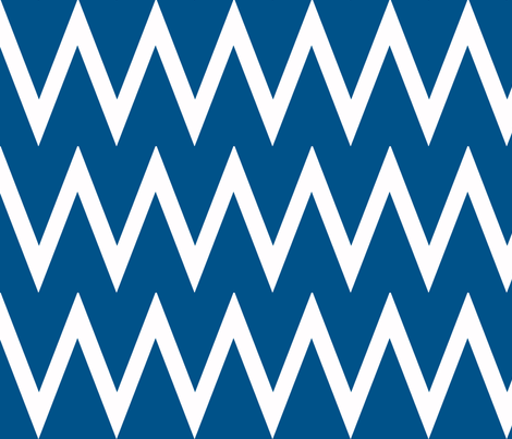 Tall Chevron Navy fabric by honey&fitz on Spoonflower - custom fabric