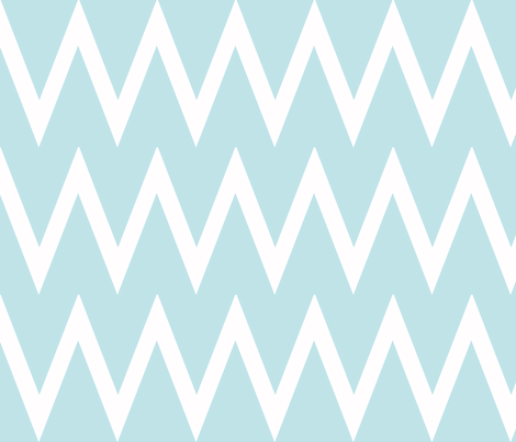 Tall Chevron Aqua fabric by honey&fitz on Spoonflower - custom fabric