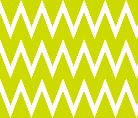 Tall Chevron Lime fabric by honey&fitz on Spoonflower - custom fabric
