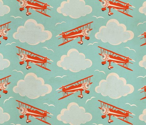 flying ace fabric by cheyanne_sammons on Spoonflower - custom fabric