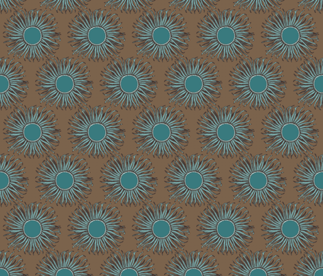 Creature Power Mocha fabric by brainsarepretty on Spoonflower - custom fabric
