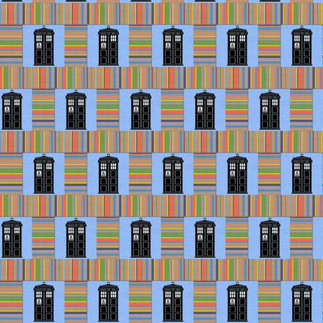 Four's Tardis fabric by marchhare on Spoonflower - custom fabric