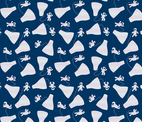 Gemini 4 - First Spacewalk fabric by mongiesama on Spoonflower - custom fabric